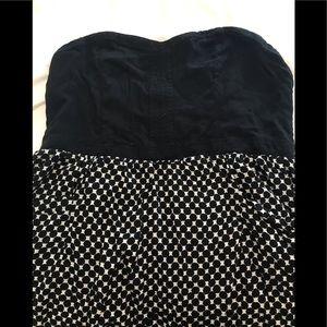 Xhilleration Checkered Dress Sweetheart Neckline